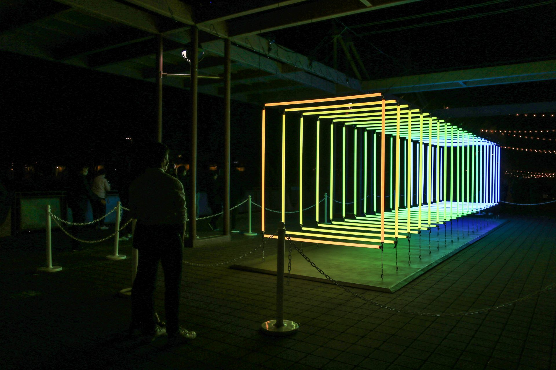 Spectrum, Installation Lumière d'Olivier Ratsi au Canal Convergence Festival, USA.