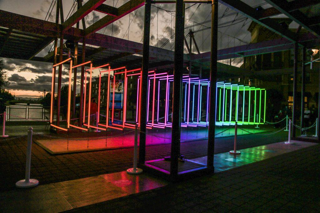 Spectrum, Installation Lumière d'Olivier Ratsi au Canal Convergence Festival, USA.