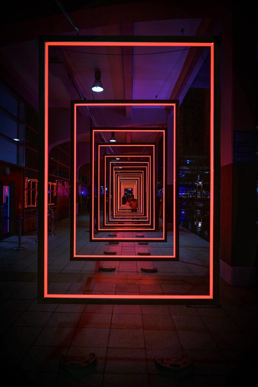 Installation lumière Frame Perspective d'Olivier Ratsi au Bristol Light Festival.