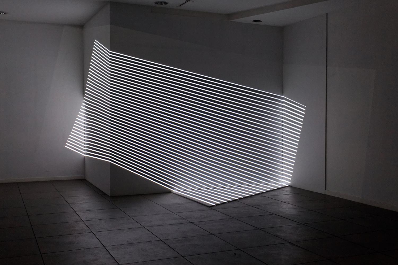 XYZ, oeuvre présentée lors de Vanishing Points, exposition monographique d'Olivier Ratsi à Marseille