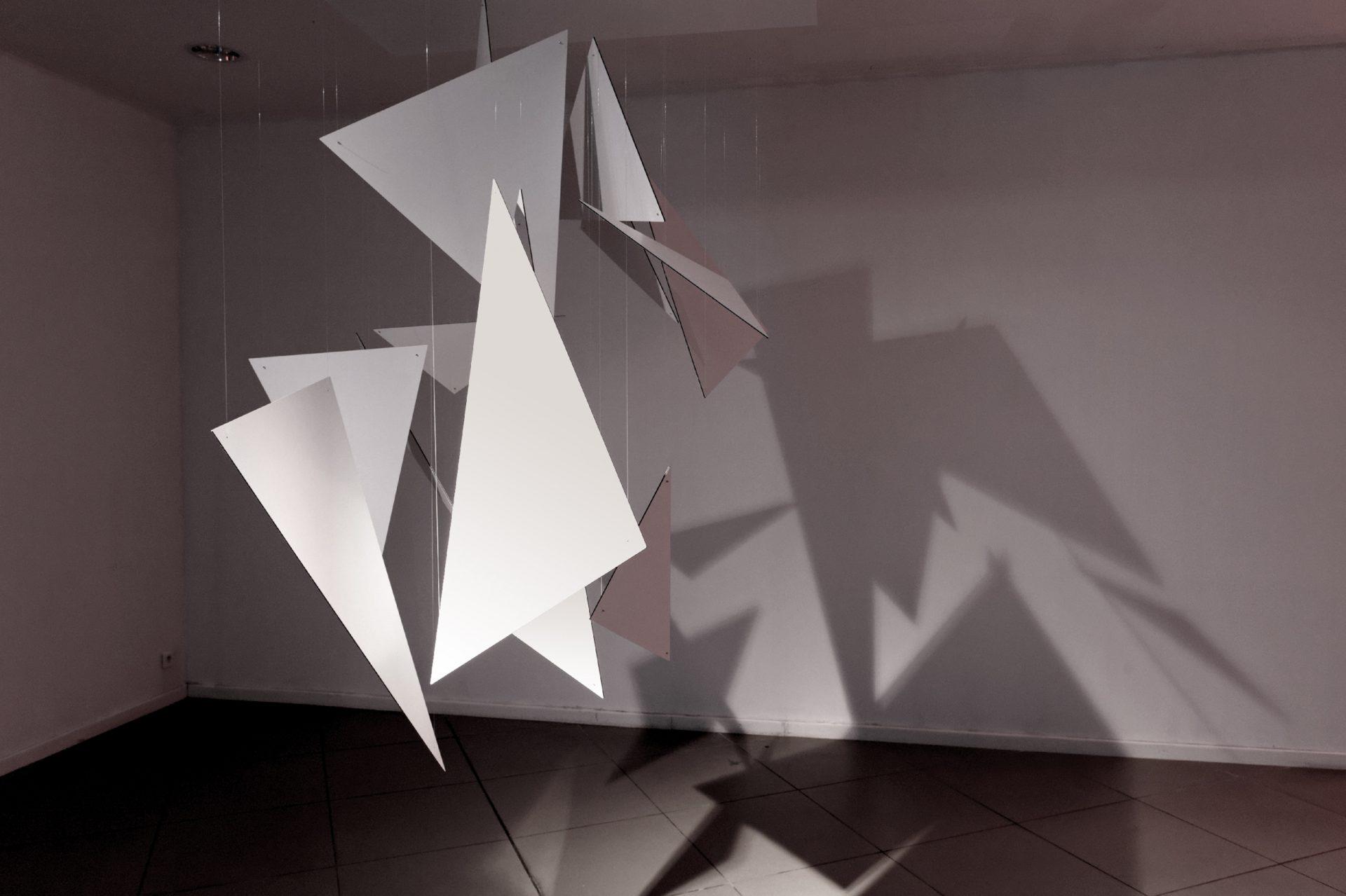 Shape, installation présentée lors de Vanishing Points, exposition monographique d'Olivier Ratsi à Marseille