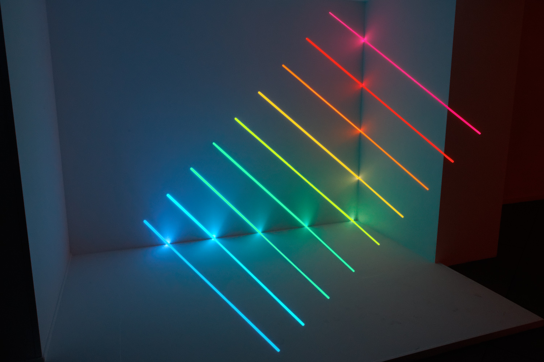 Spectrum, installation présentée lors de Vanishing Points, exposition monographique d'Olivier Ratsi à Marseille